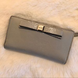 Kate Spade / Leather Wallet / Gray